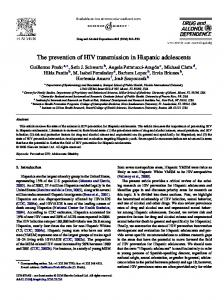 The prevention of HIV transmission in Hispanic adolescents