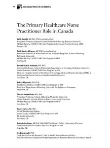 The Primary Healthcare Nurse Practitioner Role in