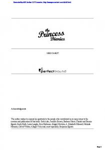 The Princess Diaries - 1 - English4success.ru