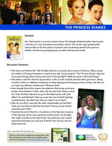 THE PRINCESS DIARIES - Heartland Truly Moving Pictures