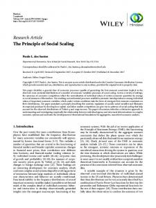 The Principle of Social Scaling
