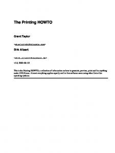 The Printing HOWTO