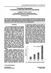 The problem of large samples: An activation analysis ... - CiteSeerX