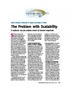 The Problem with Scalability - Semantic Scholar