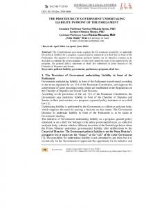 the procedure of government undertaking liability in front of the