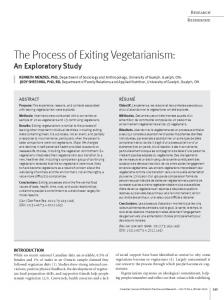 The Process of Exiting Vegetarianism - Food Ethics
