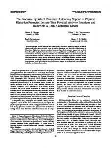 The Processes by Which Perceived Autonomy Support in ... - CiteSeerX