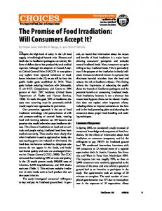 The Promise of Food Irradiation: Will Consumers ... - AgEcon Search