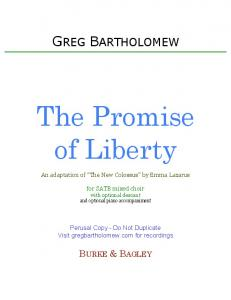 The Promise of Liberty SATB