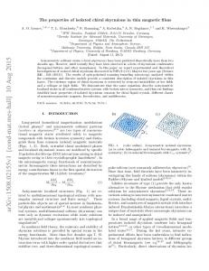 The properties of isolated chiral skyrmions in thin magnetic films