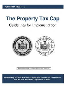 The Property Tax Cap - Department of Taxation and Finance - New ...