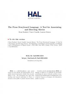 The Prose Storyboard Language: A Tool for