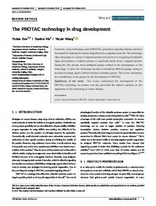 The PROTAC technology in drug development - Wiley Online Library