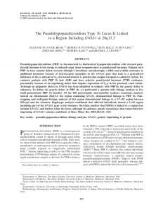 The Pseudohypoparathyroidism Type 1b Locus ... - Wiley Online Library