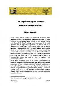 The Psychoanalytic Process - The Other Scene