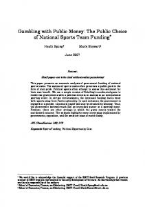 The Public Choice of National Sports Team Funding