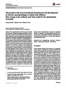 The putative role of environmental aluminium in the ... - Springer Link