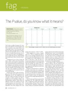 The Pvalue, do you know what it means?