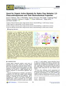 The Quest for Organic Active Materials for Redox ... - ACS Publications