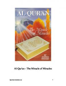 The Quran, The Miracle Of Miracles - The Islamic Bulletin