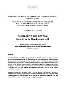 THE RACE TO THE BOTTOM: Incentives for ... - Tax Justice Network