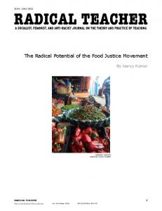 The Radical Potential of the Food Justice Movement - Radical Teacher