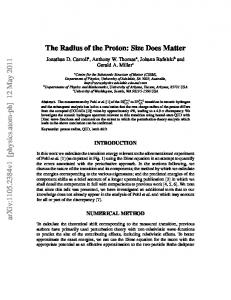 The Radius of the Proton: Size Does Matter