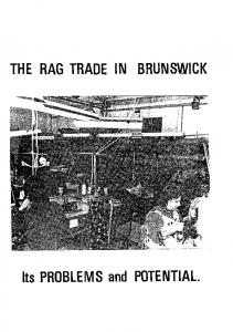 THE RAG TRADE IN BRUNSWICI< Its PROBLEMS