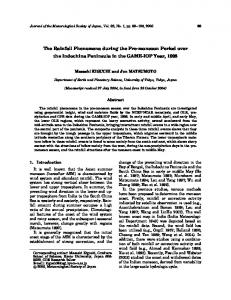 The Rainfall Phenomena during the Pre-monsoon Period over the
