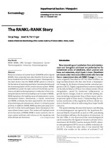 The RANKL-RANK Story