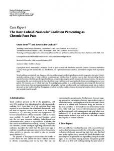 The Rare Cuboid-Navicular Coalition Presenting as Chronic Foot Pain
