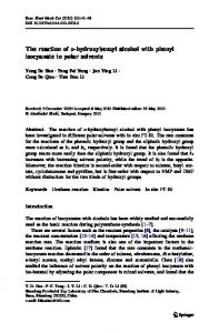 The reaction of o-hydroxybenzyl alcohol with phenyl isocyanate in ...