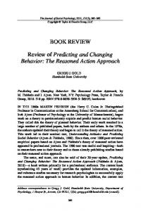 The Reasoned Action Approach