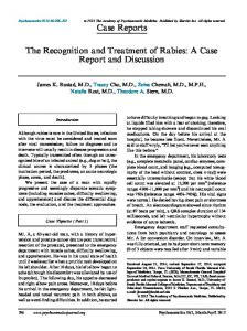 The Recognition and Treatment of Rabies_ A Case ... - Psychosomatics