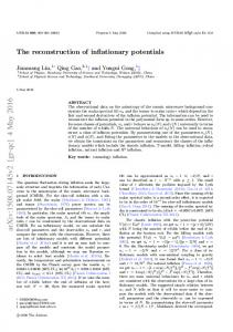 The reconstruction of inflationary potentials