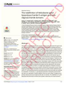 The redefinition of Helicobacter pylori ... - Semantic Scholar