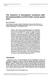 The reduction of atmospheric emissions after the implementation of ...