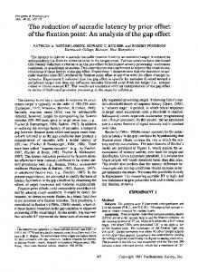 The reduction of saccadic latency by prior - Springer Link