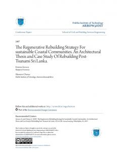 The Regenerative Rebuilding Strategy For sustainable Coastal ...