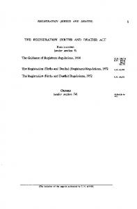 THE REGISTRATION (BIRTHS AND DEATHS) ACT REGULATIONS ...