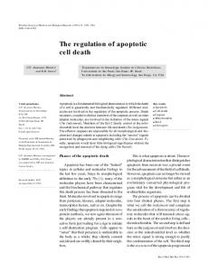 The regulation of apoptotic cell death - SciELO