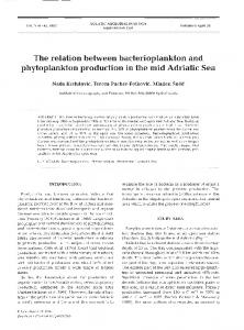 The relation between bacterioplankton and phytoplankton production ...