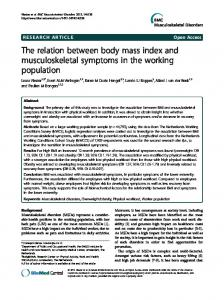 The relation between body mass index and ... - BioMedSearch
