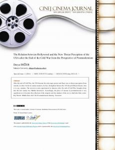 The Relation between Hollywood and the New Threat Perception of ...