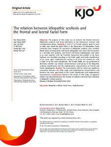 The relation between idiopathic scoliosis and the ... - Semantic Scholar