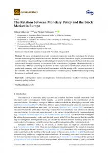 The Relation between Monetary Policy and the Stock Market in Europe