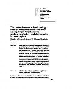 The relation between political ideology and ... - Semantic Scholar