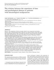 The relation between the experience of time and psychological ... - GRP