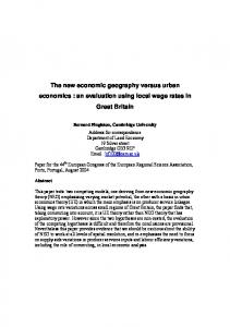 The relation between wages and market access - Core