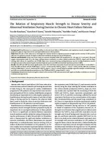 The Relation of Respiratory Muscle Strength to Disease ... - CiteSeerX
